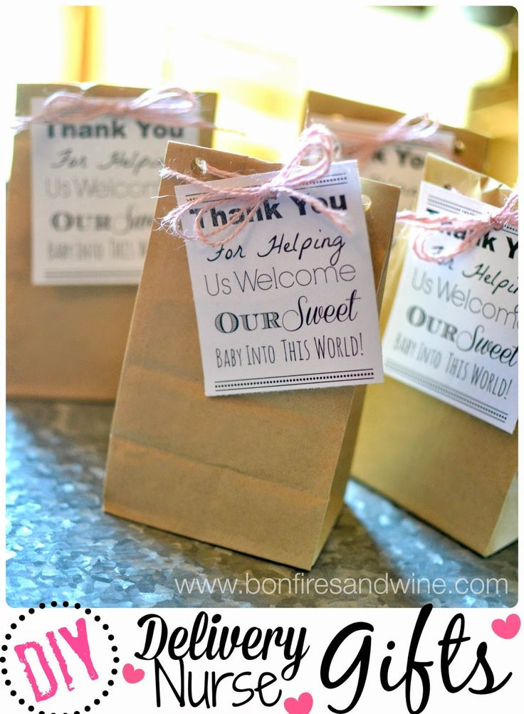 DIY Labor and Delivery Nurse Gifts. Love this wording. Fill with candy bars, mini sanitizer, Chapstick etc.