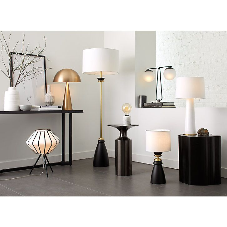 Lynby Double Globe Table Lamp Reviews Crate And Barrel Metal Table Lamps Wood And Metal Table Table Lamp