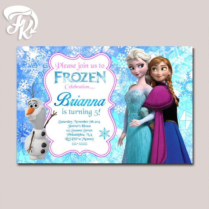 Unique Frozen Birthday Invitations Ideas On Pinterest Elsa - Birthday invitation cards size