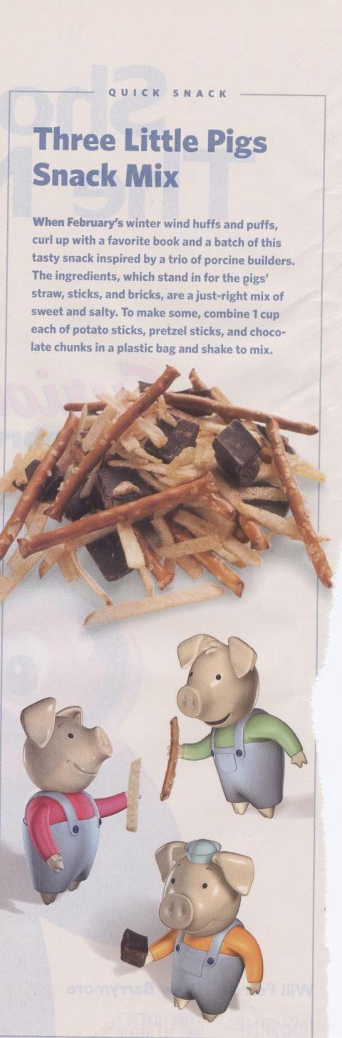 three little pigs snack- create healthier version