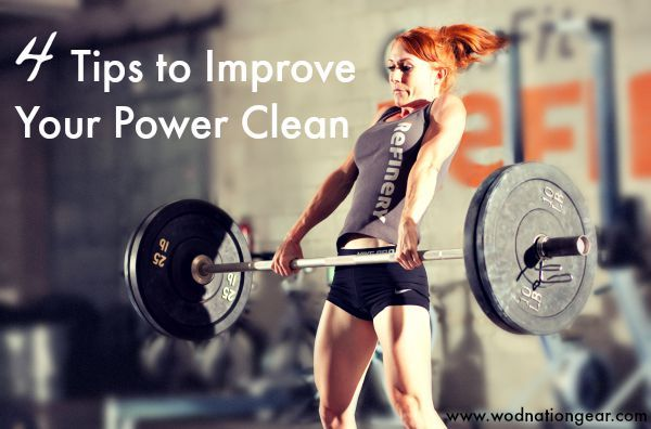 The power clean is one of the best methods of gaining strength in the gym. Check out our 4 tips to improve your power clean and see greater gains in no time!