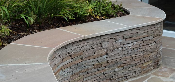 Exceptional Curved Stone Wall With Capping. Planting In Front Of Wall (Not On Top) |  RetainingWalls | Pinterest | Stone Walls, Walled Garden And Planting