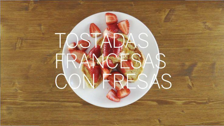 Tostadas francesas con fresas. www.nomastuppersdemama.com