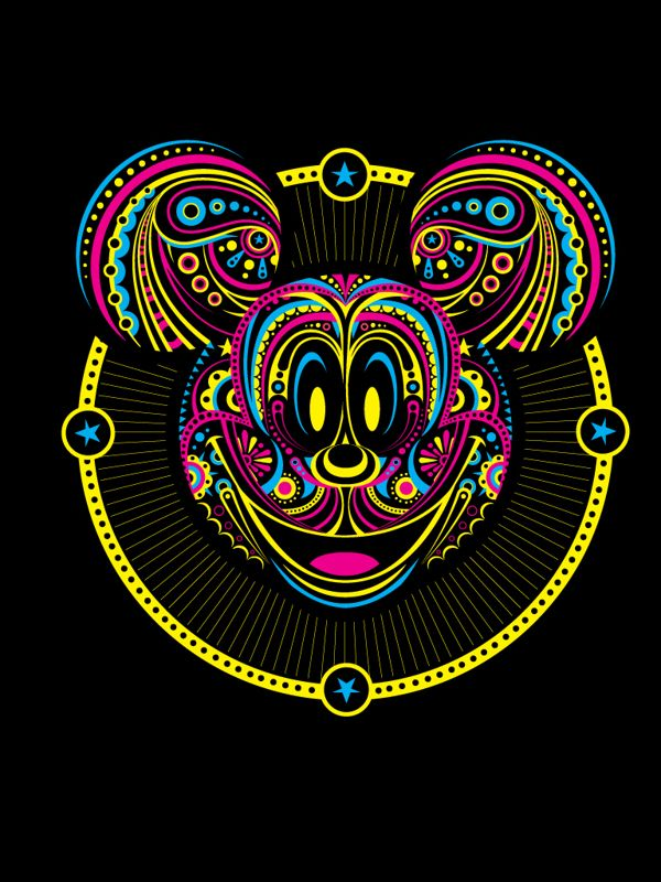 Threadless + Mickey by Juan Rivera, via Behance
