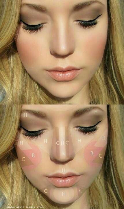 C-conture H-highlight B-blush by Meggie Grace