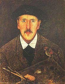 Tadeusz Makowski, Self-Portrait (between 1917 and 1921)