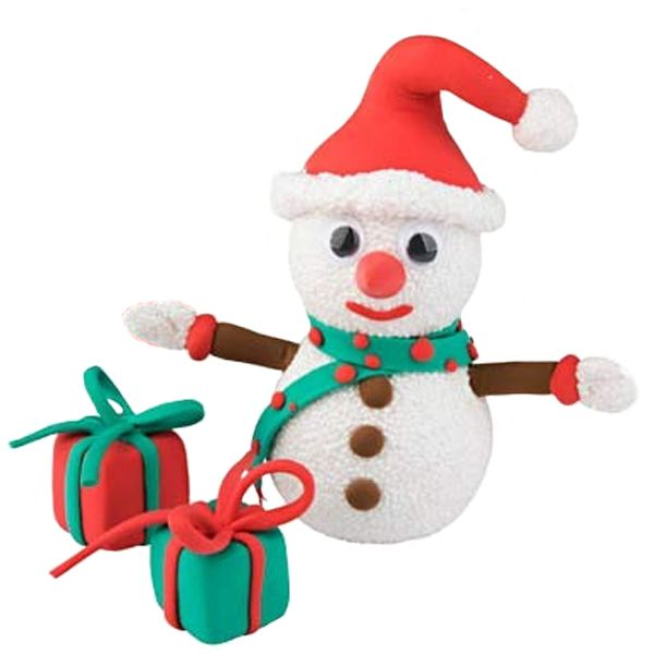 Create this Christmas Funny Friends Snowman with presents, out of air drying Silk and Foam Clay using the simple picture instructions.  These kits are great fun for children and include everything you need.