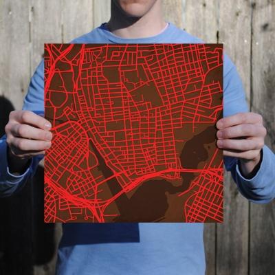 Brown University   City Prints Map Art