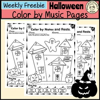 simple and fun halloween music activity for kids this set contains 1 designs in 3
