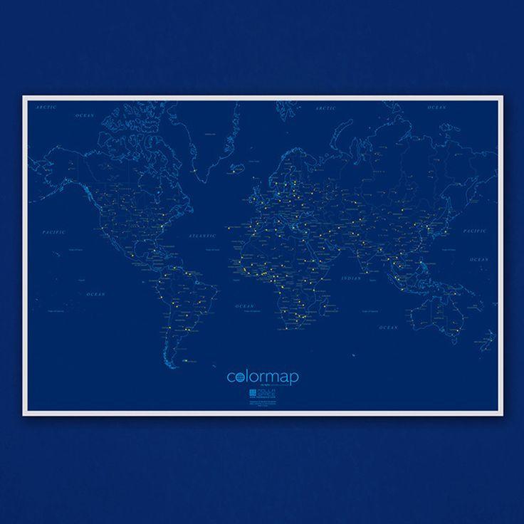 citiesocial – 『環遊世界 追夢第一步』Color Map彩色世界地圖 - 星空版