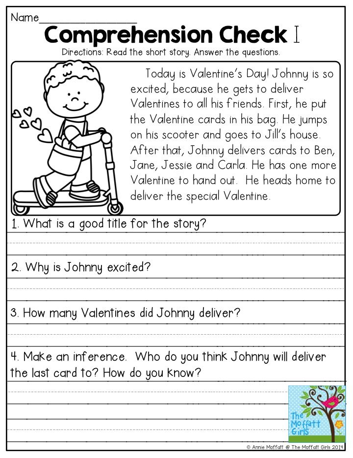 February FUNFilled Learning! Reading comprehension