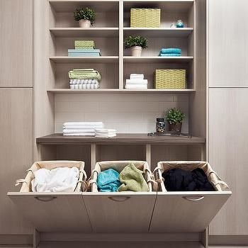 Laundry Room with Melamine Cabinets, Contemporary, Laundry Room