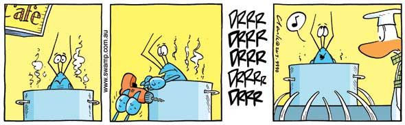 How to avoid being cooked by the chef. #swampcartoons #swampcomics #chefs #cooking #crayfish