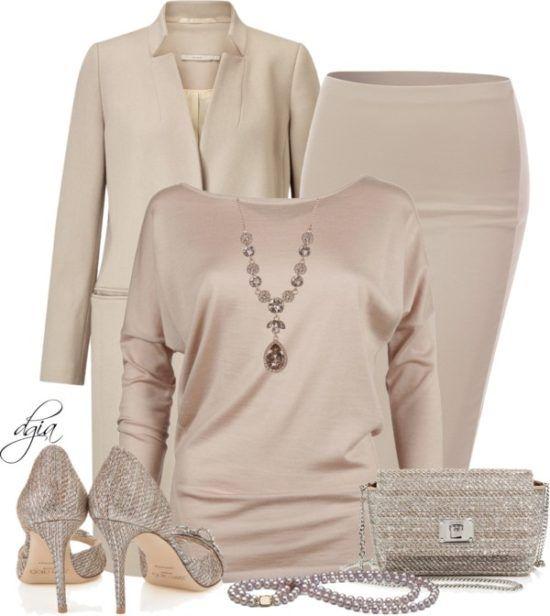 Blush Monochrome Neutral Fall Outfit Idea