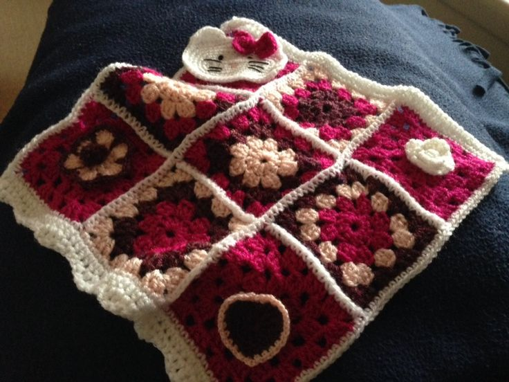 Little crocheted blanket for niece.