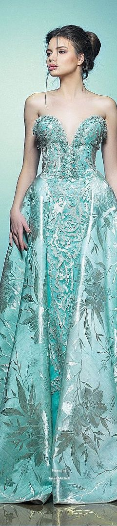 Saiid Kobeisy Spring-summer 2015/ love the color and the detail, but wish it wasn't strapless.
