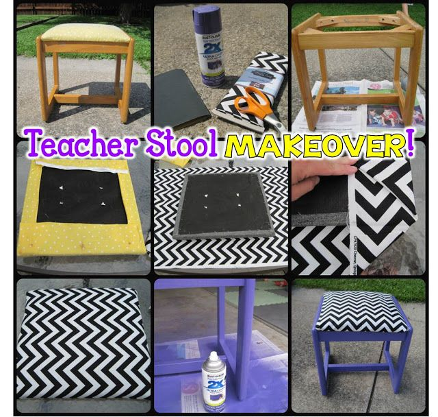 Easy Stool Makeover! I have a stool and chair that would look amazing!