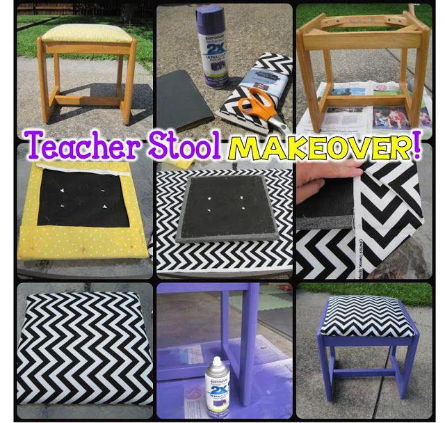 Easy Teacher Stool Makeover!