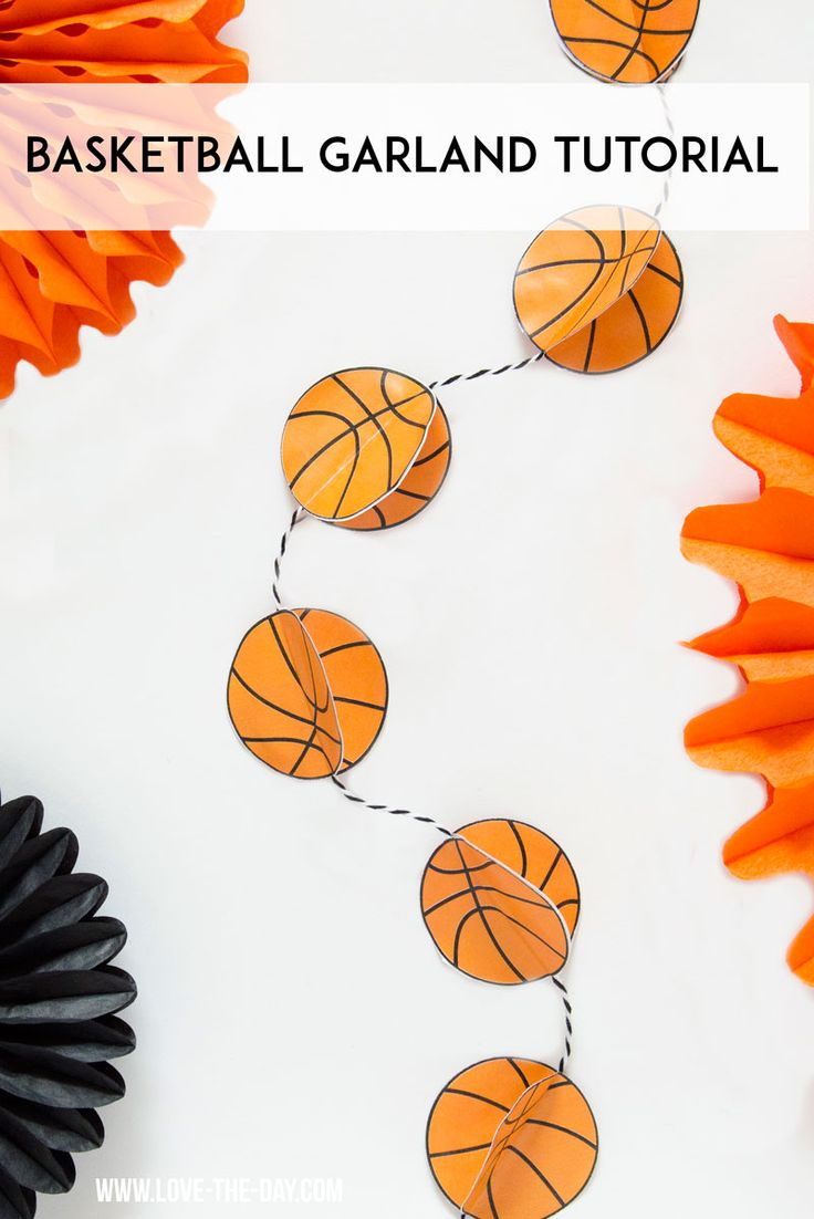 Basketball Garland Tutorial by MichaelsMakers Lindi Haws of Love The Day