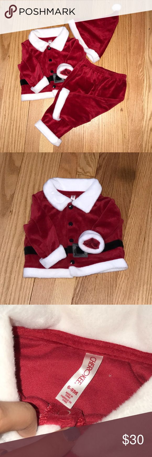 Santa Outfit! boys 6-9 months. Only worn once, Cherokee brand Santa outfit. Cherokee Costumes Seasonal