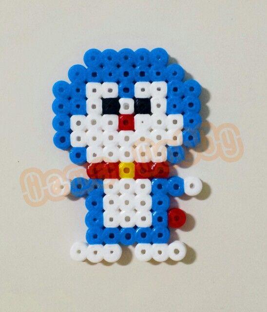 Doraemon hama perler beads by Love Cupcoonka - www.facebook.com/hamabeadshobby ♡