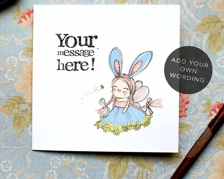 First Easter Card, Cute Easter Card, Easter Bunny, Easter Fairy, Cute Fairy, Card for girl, Card for Baby, New Baby, Christening Card, by BEEcardsUK on Etsy https://www.etsy.com/uk/listing/514918255/first-easter-card-cute-easter-card