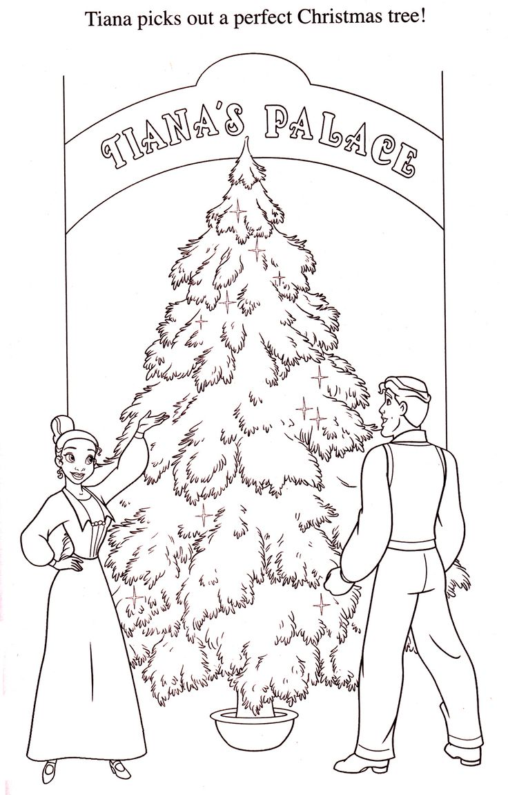 How to draw christmas tree red design hellokids com - Tiana And Naveen Get A Christmas Tree