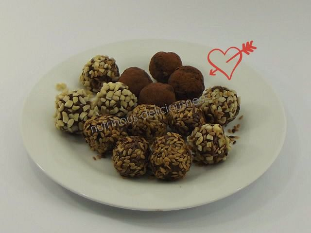 Healthy Date, Walnut and Seed Truffles