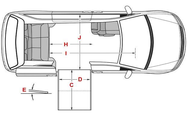 Dimensions for Honda Side Entry Wheelchair Van | Braun Conversion