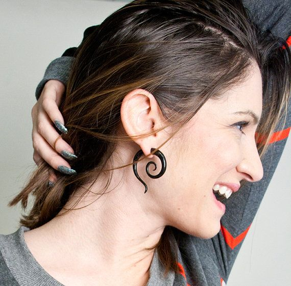 Fake Gauges Handmade Horn Earrings Cheaters Organic by TribalStyle