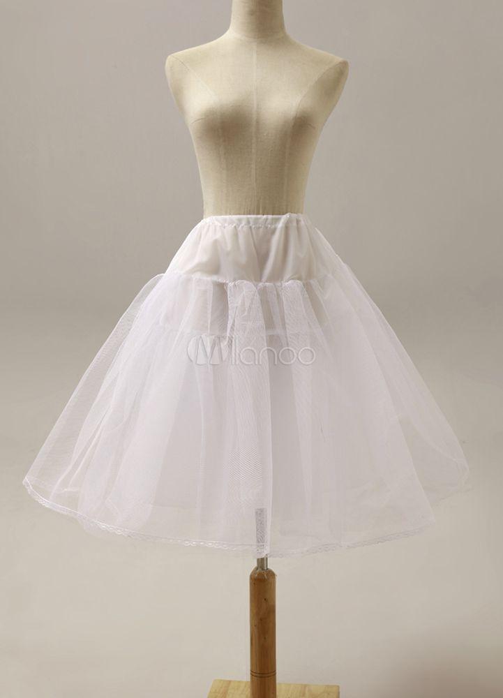Jupon de mariage nuptiale Slip blanche fille de fleur fantastique à deux niveaux - Milanoo.com