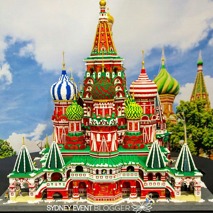 St Basil's Cathedral in Moscow made of Lego at the Brickman Wonders of the World Exhibition. When: Every day, 9.30am to 4pm Tuesday 20 December 2016 to Sunday 5 February 2017 Where: International Convention Centre Sydney 14 Darling Drive, Sydney ICC Sydney, International Exhibition Centre, Exhibition Hall
