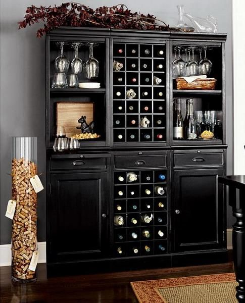 30 Beautiful Home Bar Designs, Furniture and Decorating Ideas. Love the wine bottle and glass holders, definitely a must need for me.