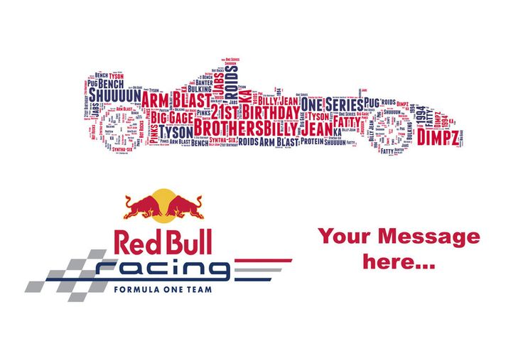 Personalised F1 Formula 1 Team Birthday word art Gift for Son, Dad, Father.