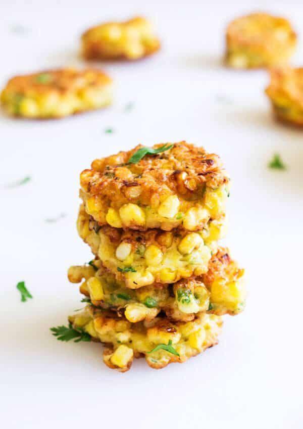 Mini Sweet Corn Fritters via @shineshka