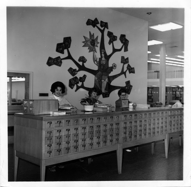 Library card desk - Whittier Public Library
