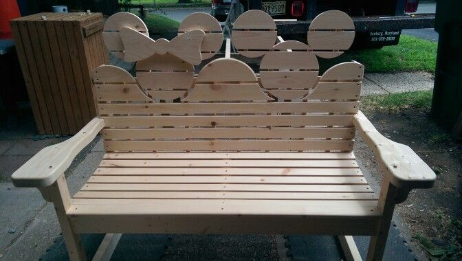 Mickey mouse bench