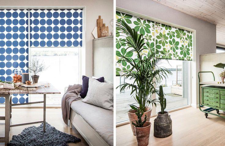 Ge ditt fönster skandinavisk design och lyft din inredning. Skapa en enhet i rummet eller bryt av med ett spännande och snyggt alternativ till en vanlig, enfärgad rullgardin.