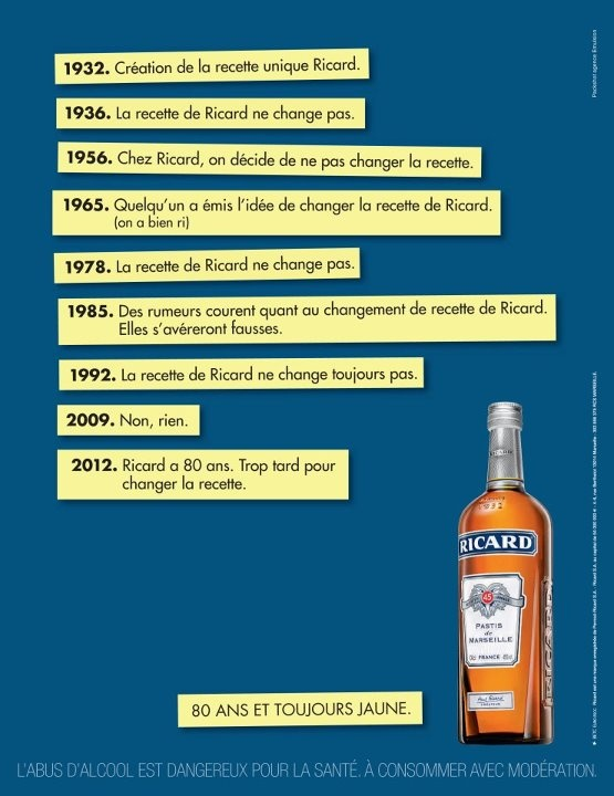 Ricard Ad Campaign Spring 2012: Nothing to say, but let's say it!