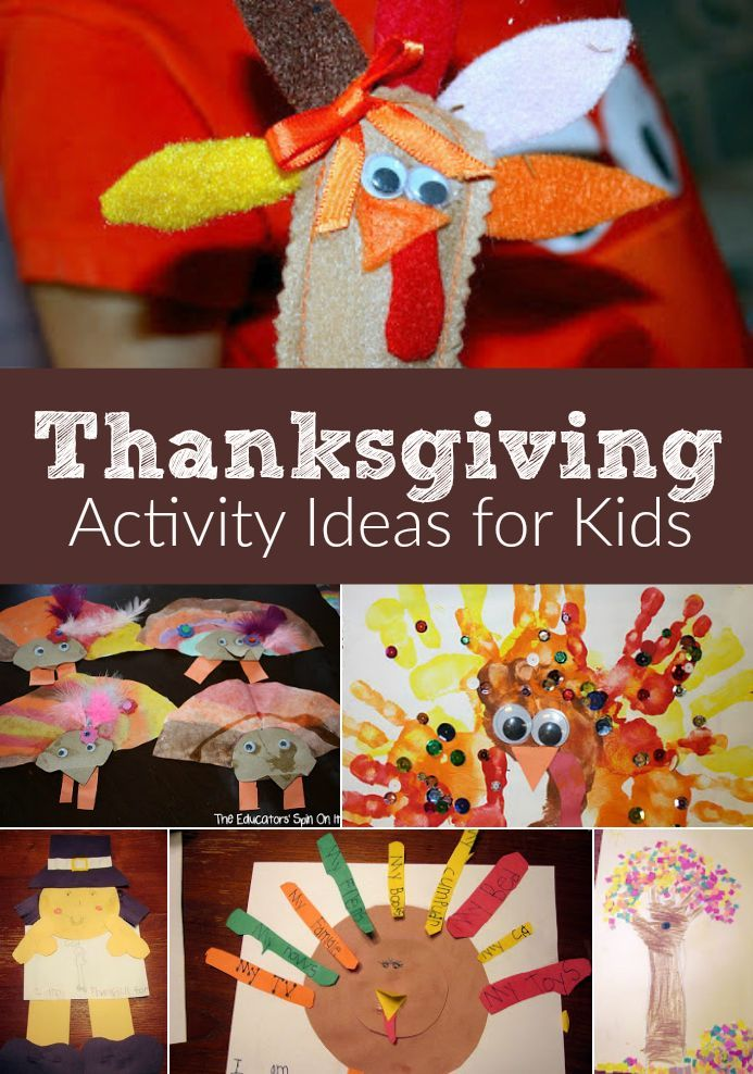 Thanksgiving Activity Ideas for Kids. From Turkeys to Pilgrims to find fun and easy activities and crafts to do with your child for Thanskgiving.