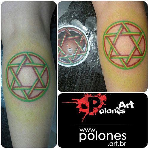 Estrela de Davi #polonesart #tattoos #reggae #inked | Flickr - Photo ...