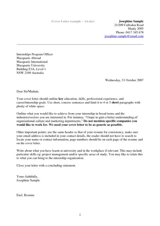 Cover Letter Sample with Cover Letter Resume Format Layout Copycat Violence