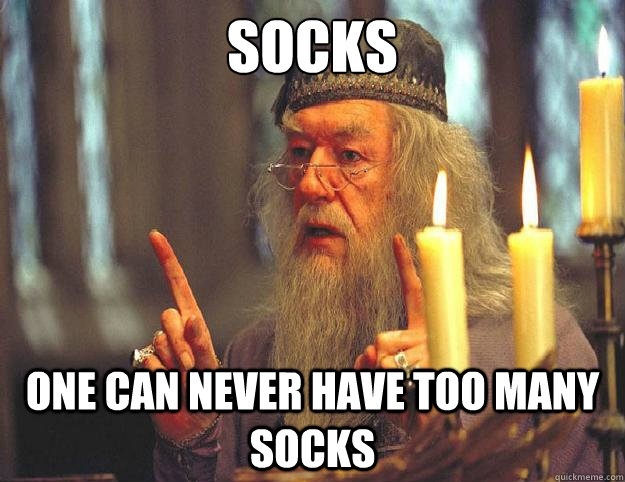 I still can't get over the fact that Dumbledore wants socks for Christmas. Maybe he and Dobby can be friends?