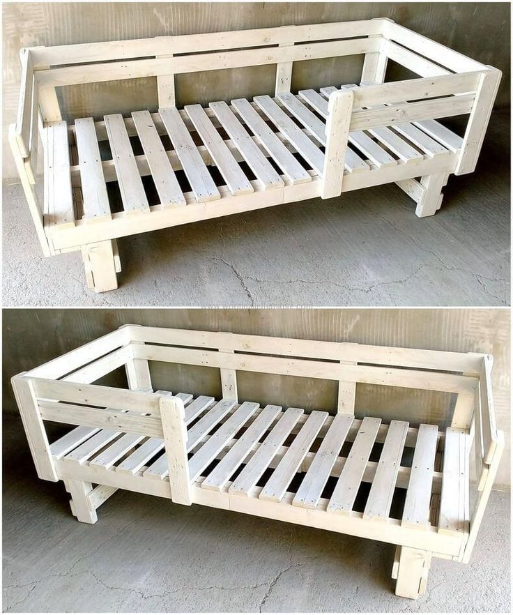We have a good idea for kids sleeping requirement, you can see how you can make repurposed wood pallet kids bed at home, there are pallets on the sides to keep the kid in the bed and it reduces the worry of the parents that the kid will fall from the bed.