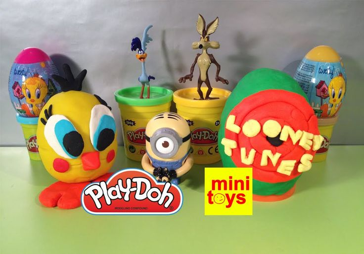 ❤ Looney Tunes Play Doh Surprise Eggs ❤