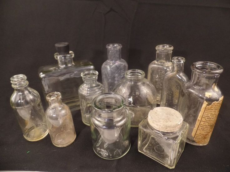 Vintage Clear Glass Spice Bottles