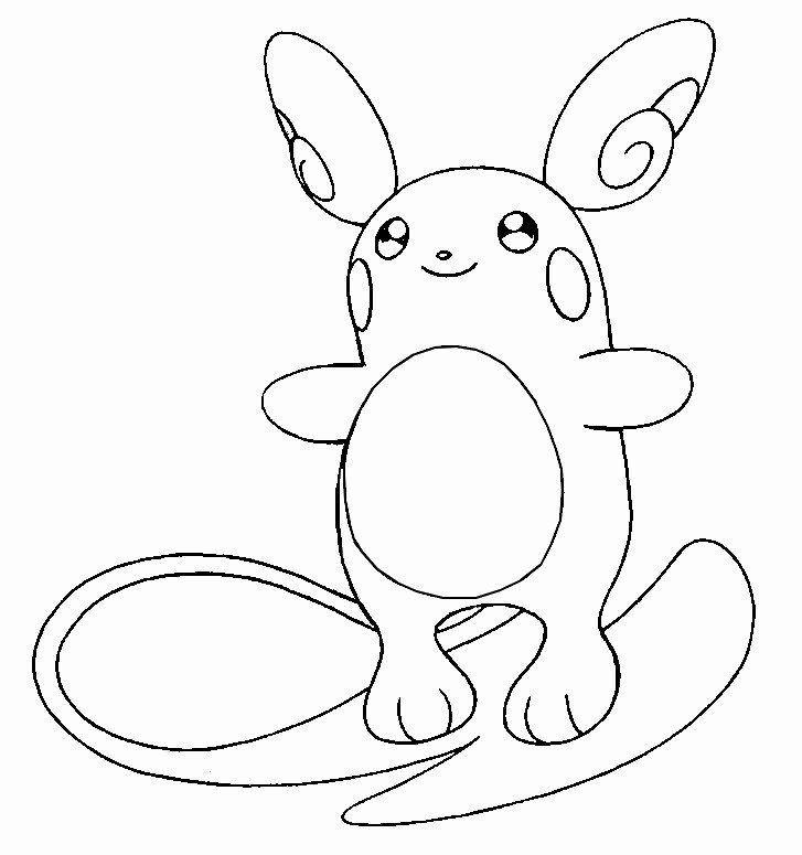 Chibi Alolan Raichu Pokemon Go Coloring Pages Ausmalbilder Ausmalen Bilder