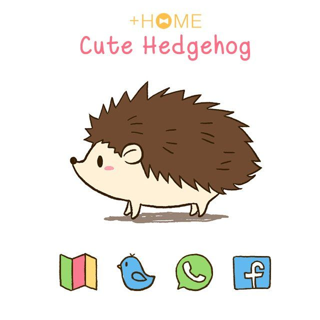 """""""Cute Hedgehog""""   This hedgehog may not run at supersonic speeds, but it's cute enough to decorate your home screen with!  Download Now:http://bit.ly/2sb9GOa  #cute #wallpaper #kawaii #design #icon #plushome #homescreen #widget #deco"""