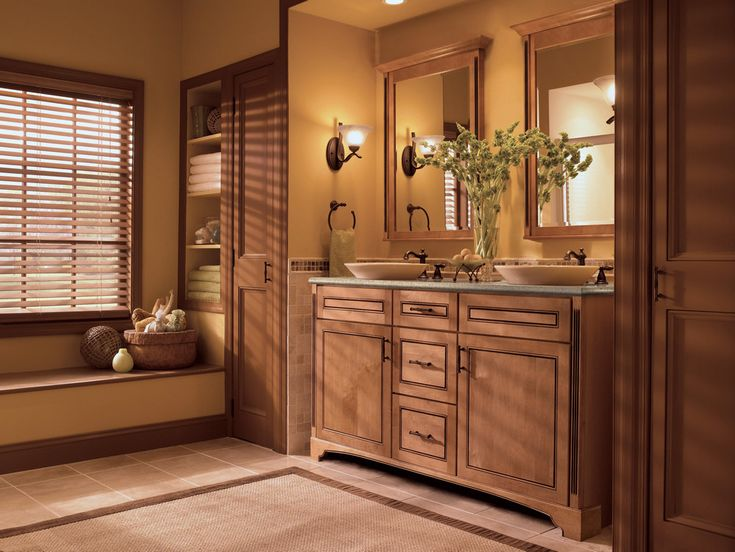 Image Gallery Website Maple Bathroom in Ginger with Sable Glaze KraftMaid
