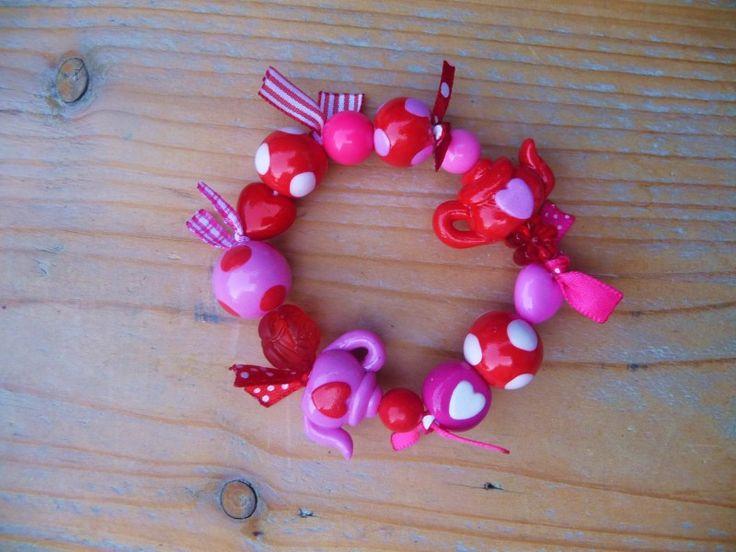 zoete hartjes met lintjes | Kindersieraden (jewels for children) | mukkepuk